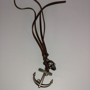 Anchor and skull necklace